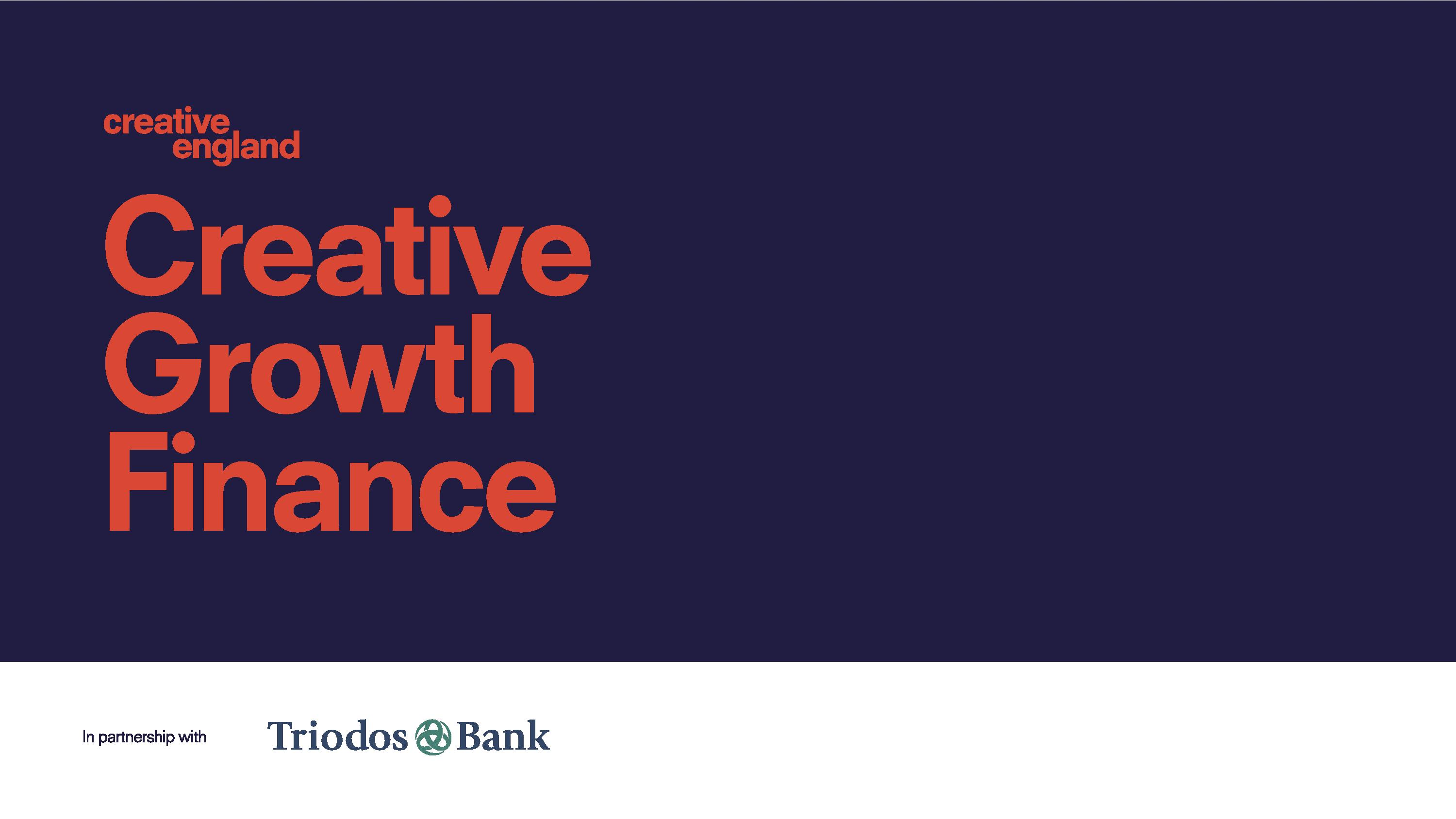 Creative Growth Finance Loans for Creative Businesses