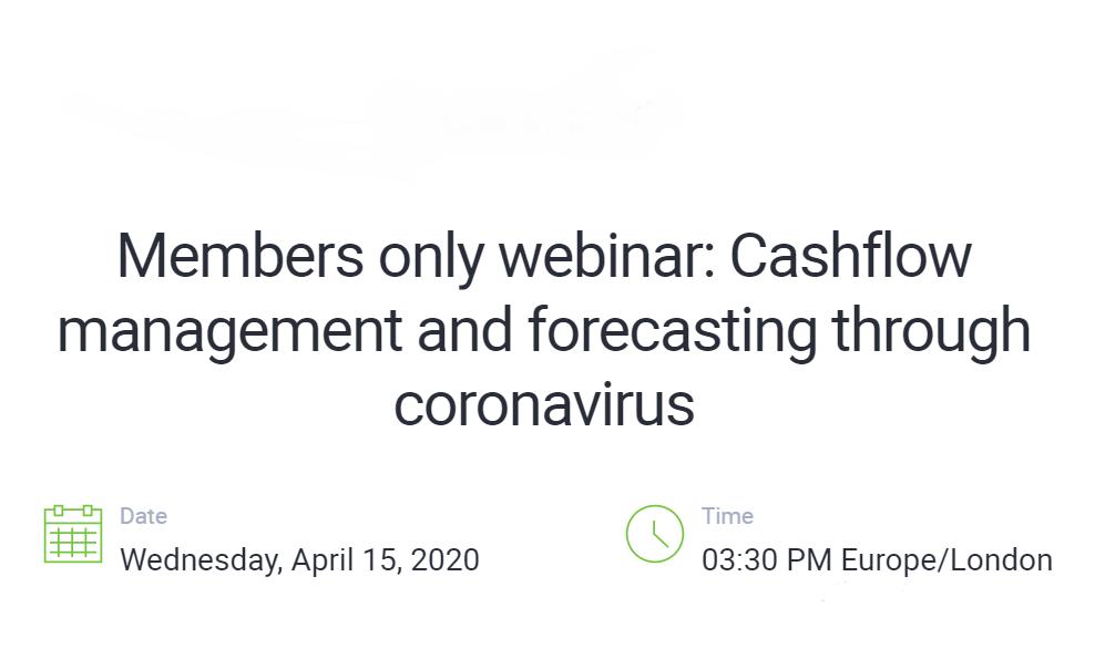 Free webinar: Cashflow management and forecasting through Coronavirus