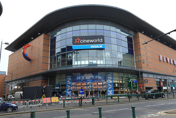 image of the exterior of cineworld at five ways, birmingham, uk