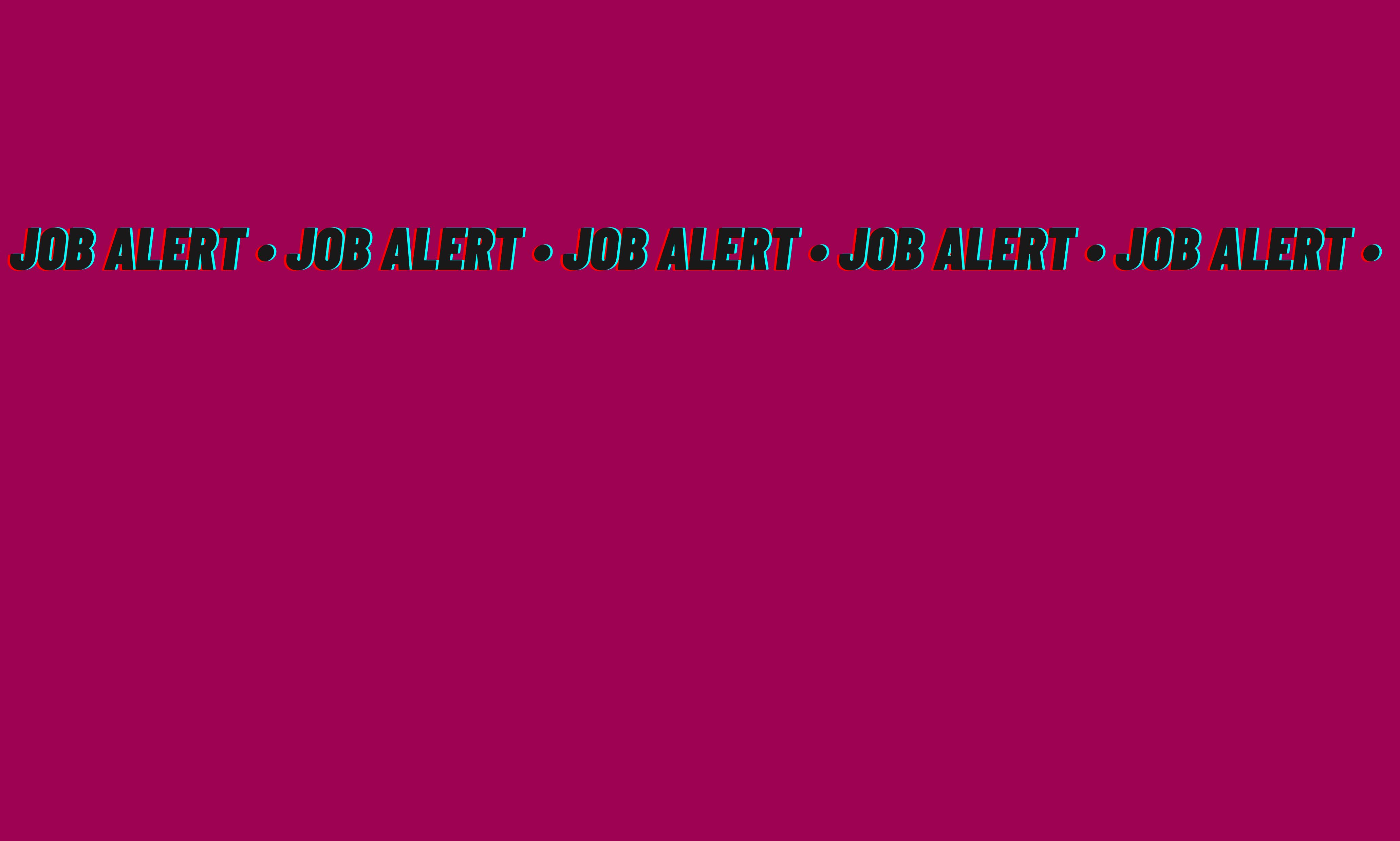 Job Alert: Shooting Producer