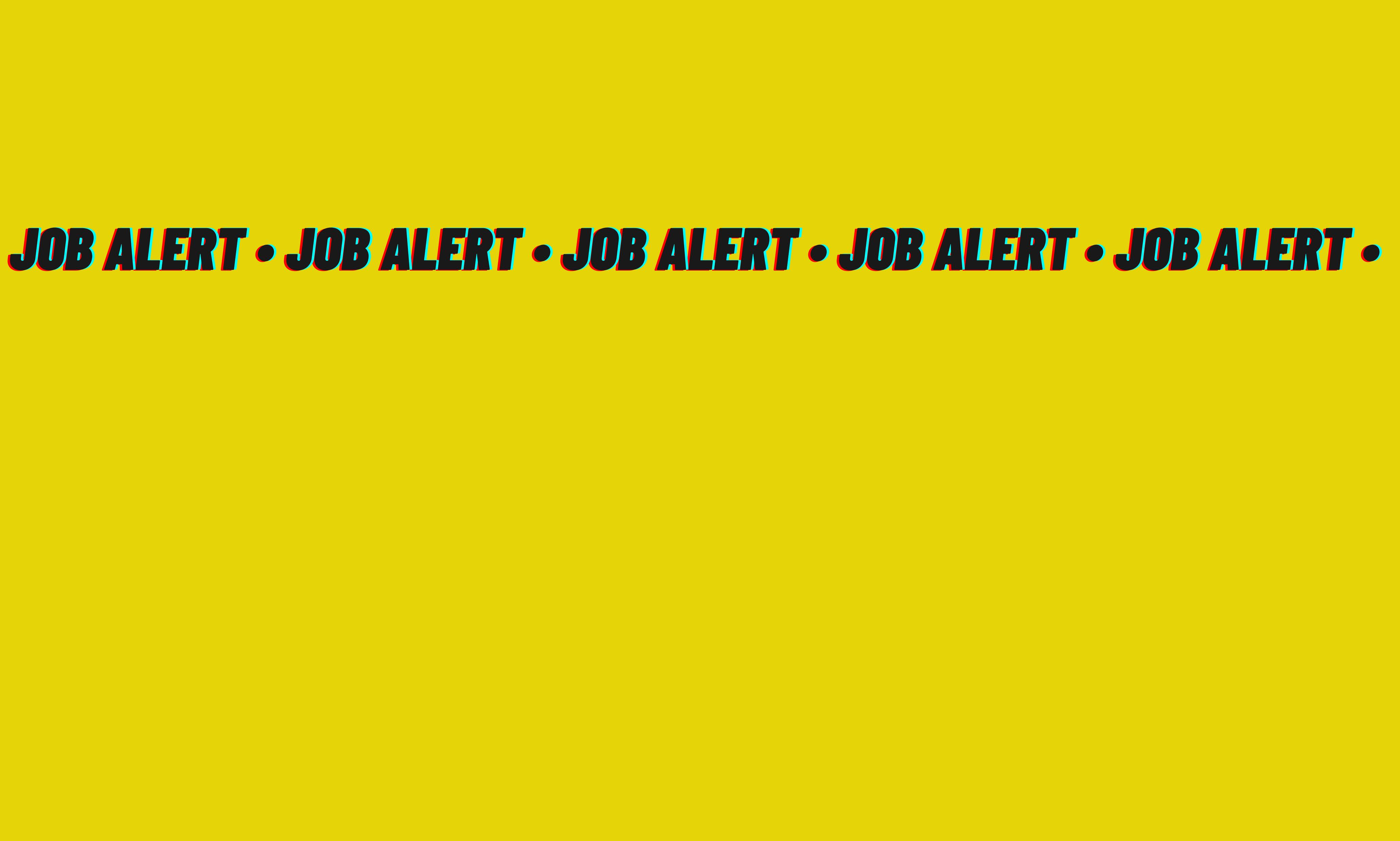 Job Alert: Director
